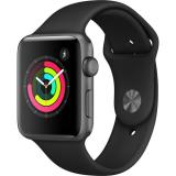 Apple Watch Series 3 42mm Space Gray Aluminum Case with Black Sport Band (MQL12)