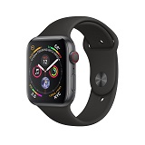 Apple Watch 4 44mm Space Gray Aluminum Case with Black Sport Band