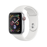 Apple Watch 4 44mm Silver Aluminum Case with White Sport Band